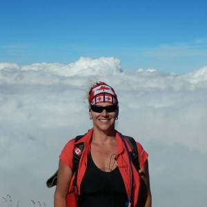 Above the clouds on Mt Rinjani, Indonesia
