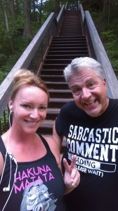 Training tonight with ravine stairs; 1250 of them.